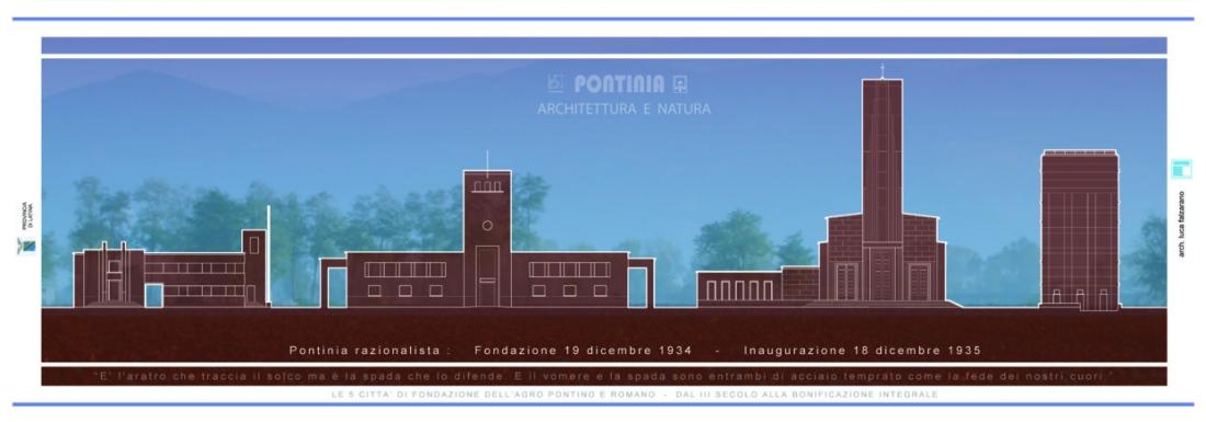 Collezione l 39 agro pontino e le 5 citt di fondazione l for Architetto latina