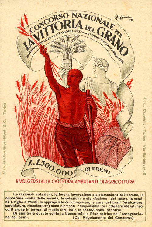 Cartel de la campaña fascista italiana de